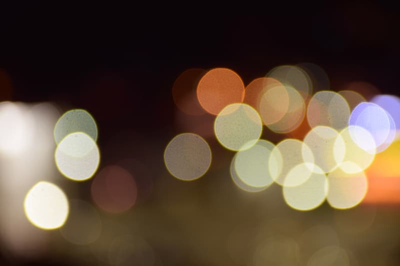 Yellow and white bokeh photography