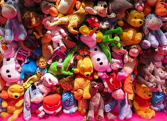 Assorted plush toy collection