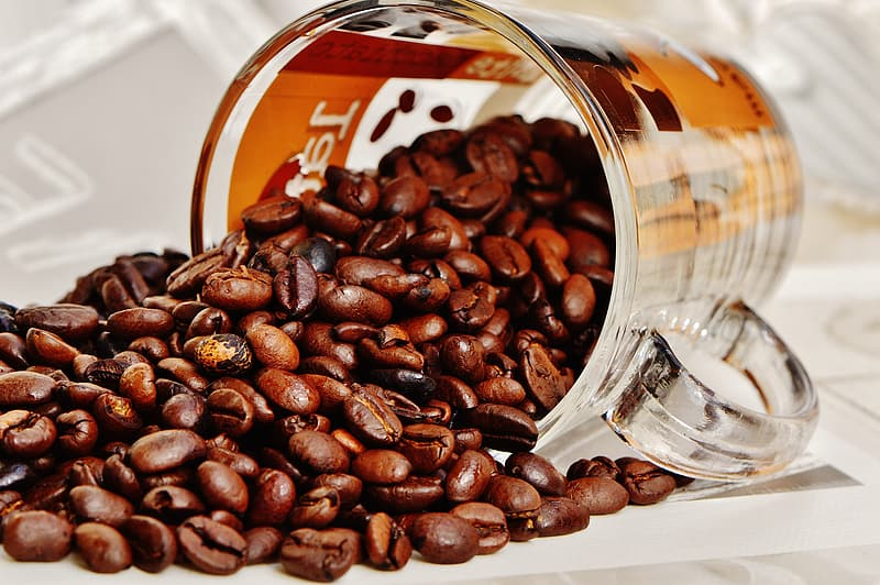 Assorted coffee beans