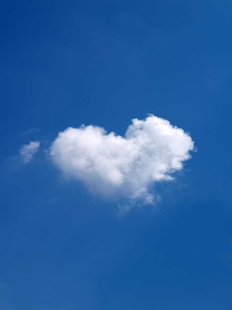 White clouds form of hearts