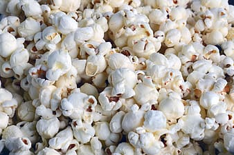 Close-up shot of popcorn