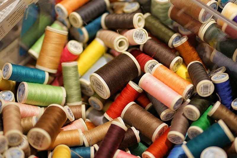 Assorted silk threads