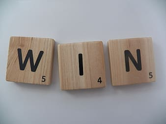 Brown scrabble wooden blocks