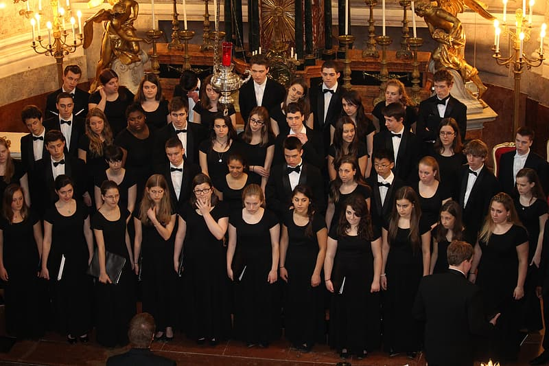 Choir standing on stage