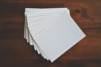 White lined papers