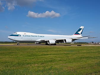 Cathay Pacific Cargo airplane on airport