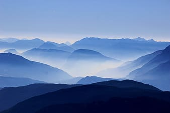 Silhouette of mountain range