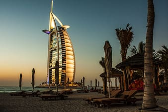 Architectural photography of Burj Al Arab in Dubai