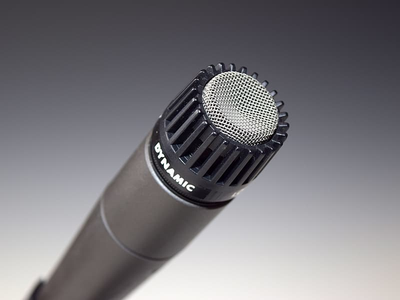Black and gray Dynamic microphone