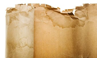 Brown paper on white surface