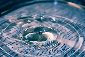 Water focus photography