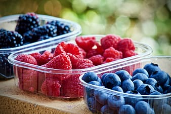Raspberry, mulberry and Bluberry fruits