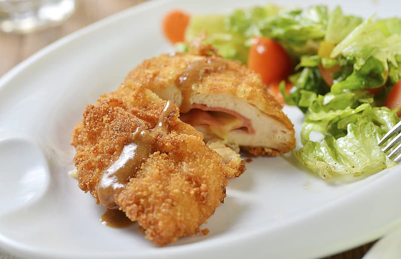 Food Photography, Cheese Fried Chicken