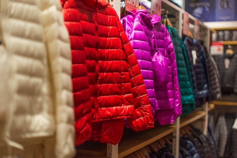Red leather bubble jacket