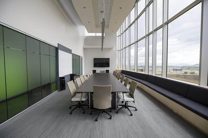 Black and gray office rolling chairs