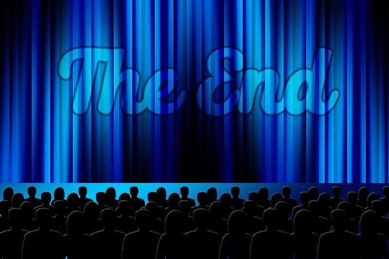The End theater with audience clip-art