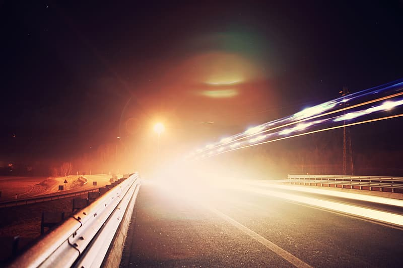 Timelapse photography of road during nighttime