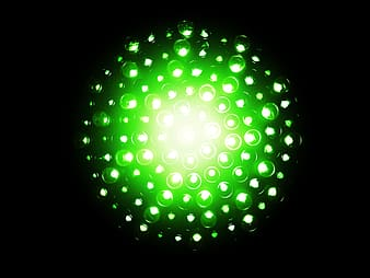Green lights with black background