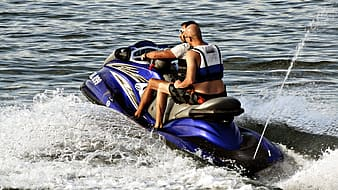 Blue personal water craft
