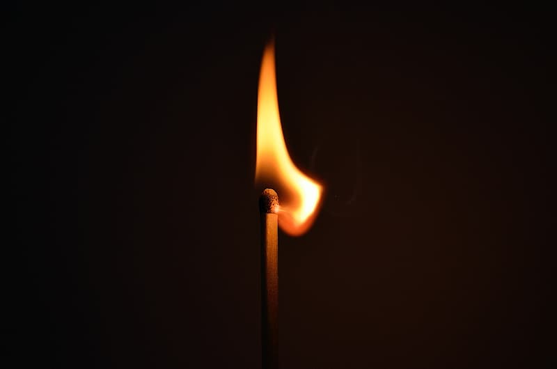 Time-lapse photography of lighted match