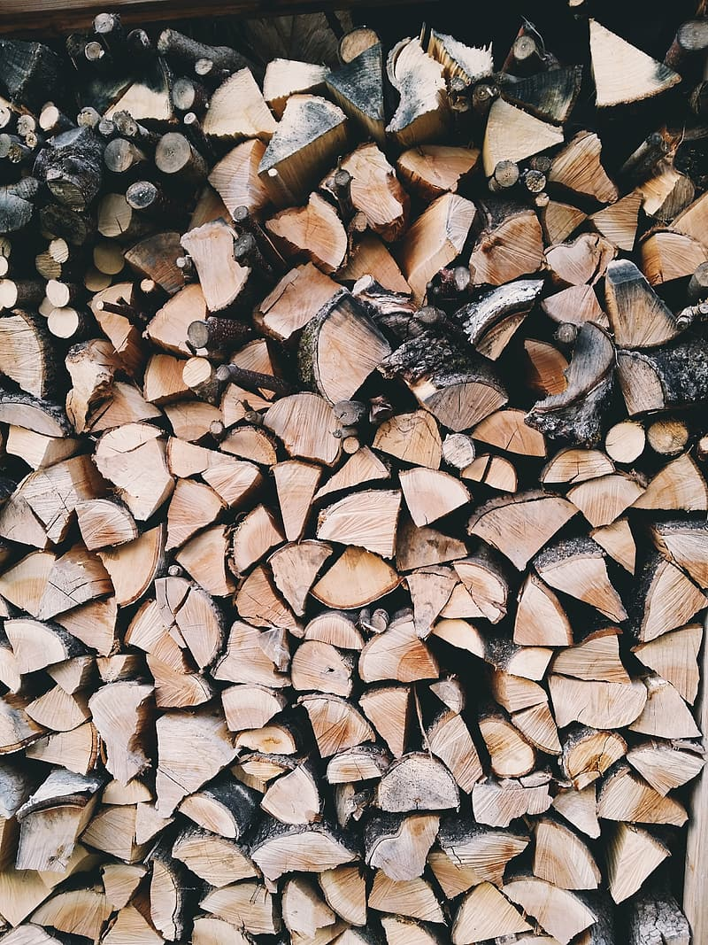 Brown firewood stack