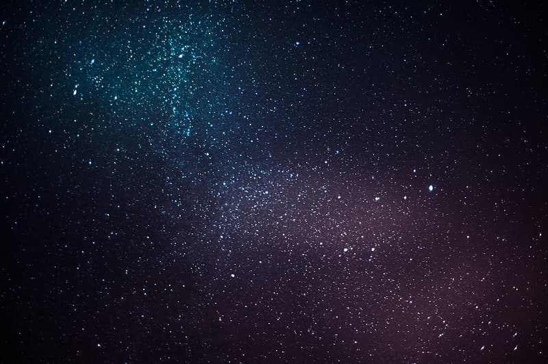 Stars in the sky at night time