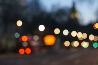 Bokeh photography of lights