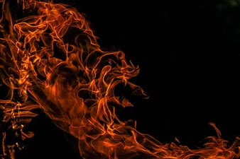 Red flame digital wallpaper