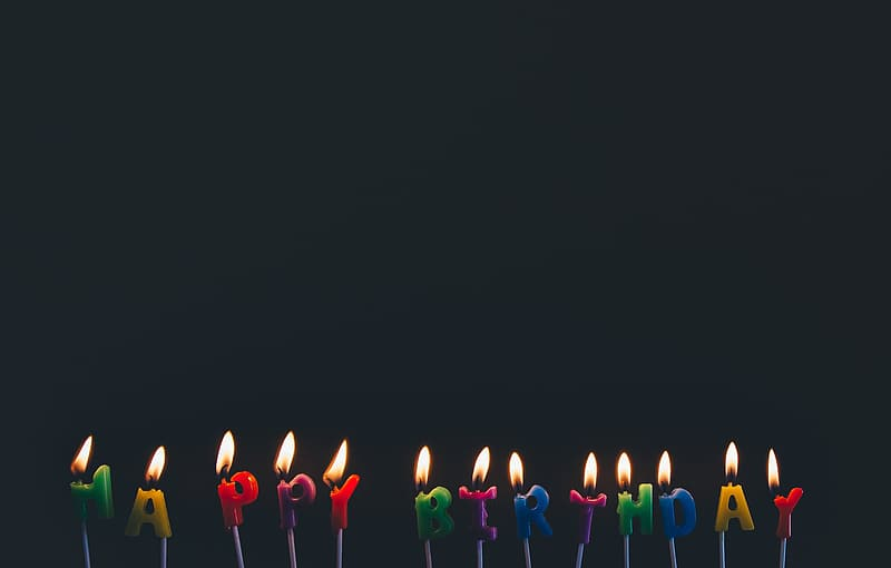 Happy Birthday lighted candles