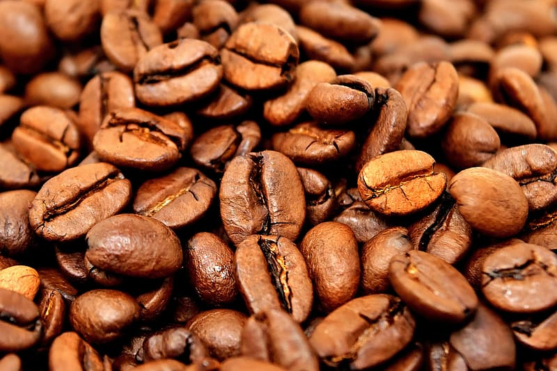 Bunch coffee beans