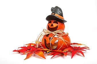 Orange Jack-'o-lantern decor