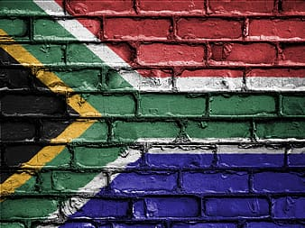 Flag of South Africa wall graffiti
