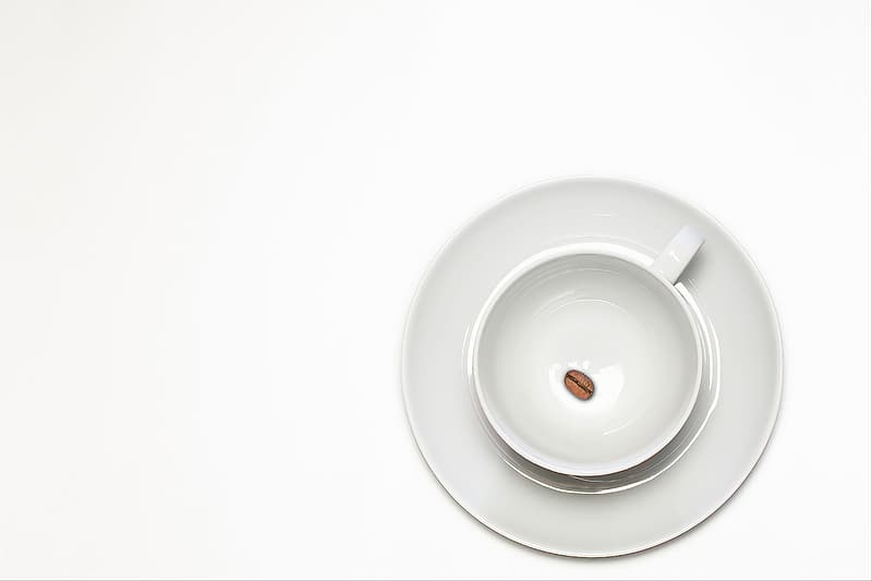 White ceramic plate on white table