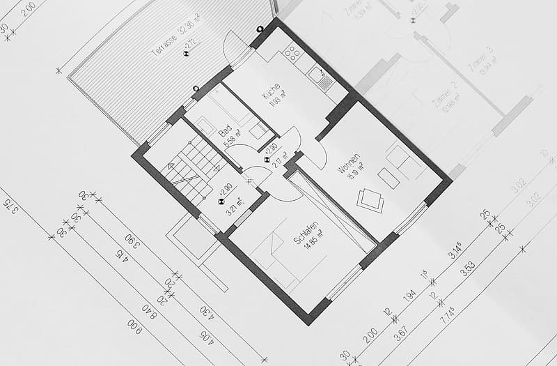 House floor plan blueprint