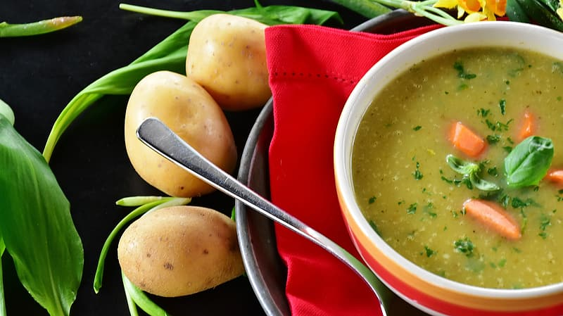 Soup with vegetables and potatoes