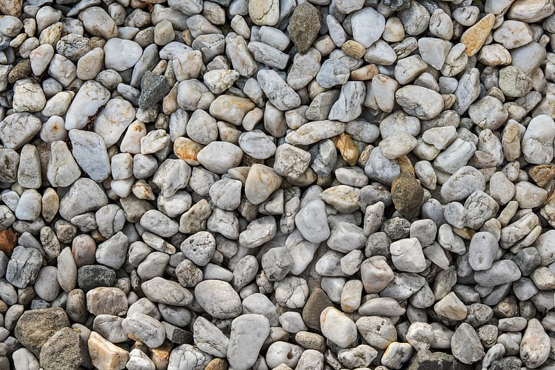 White and black pebbles