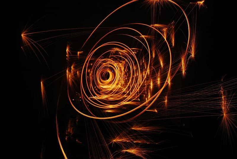 Steel wool photography of lights