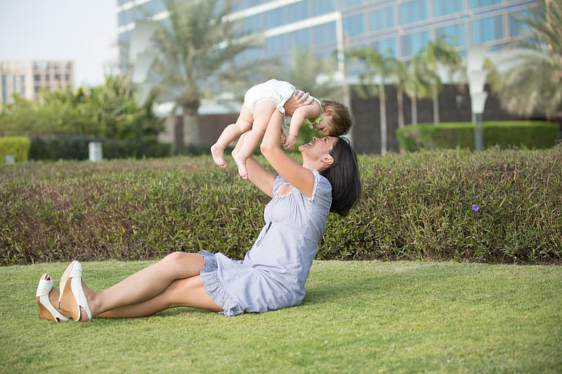 Untitled, mother, daughter, family, park, child, love, mom and baby, nature, play