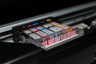 Macro shot photography of ink cartridges