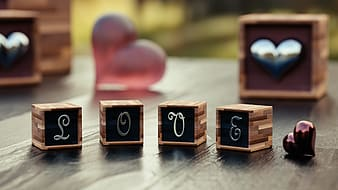 Brown and black wooden dice
