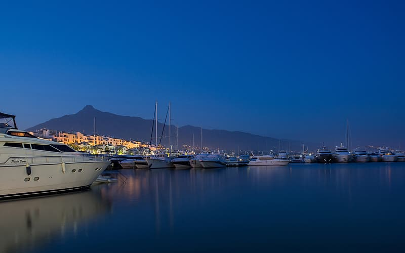 Panoramic photograph of lot of yacht