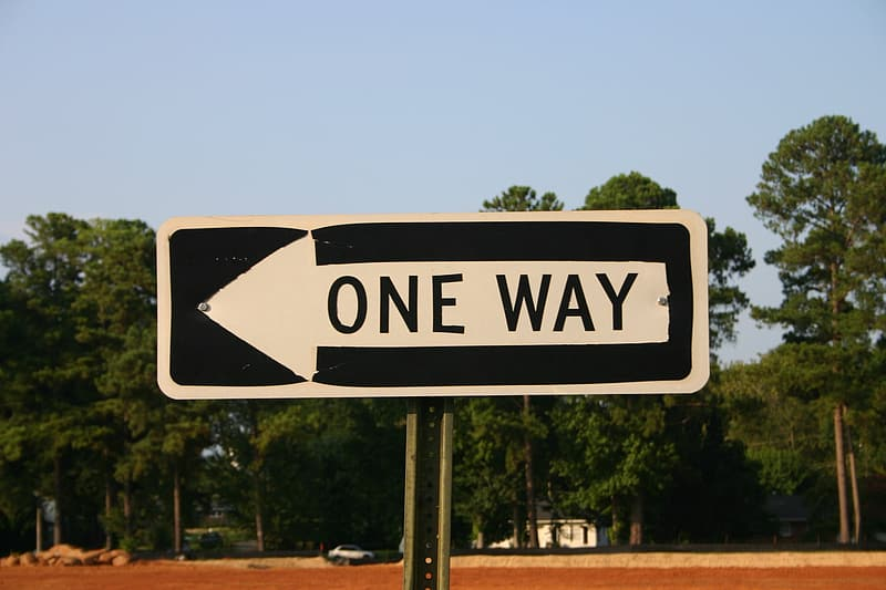 One-way, sign, arrow, way, one, road, street, traffic, direction, symbol
