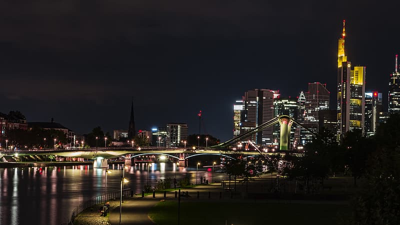 Lightened city building during nighttime