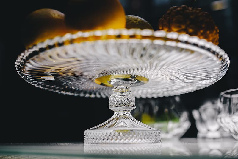 Gold and silver trophy on black table