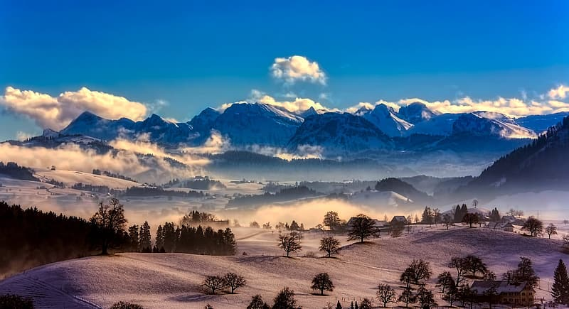 Landscape photo of mountains and hills