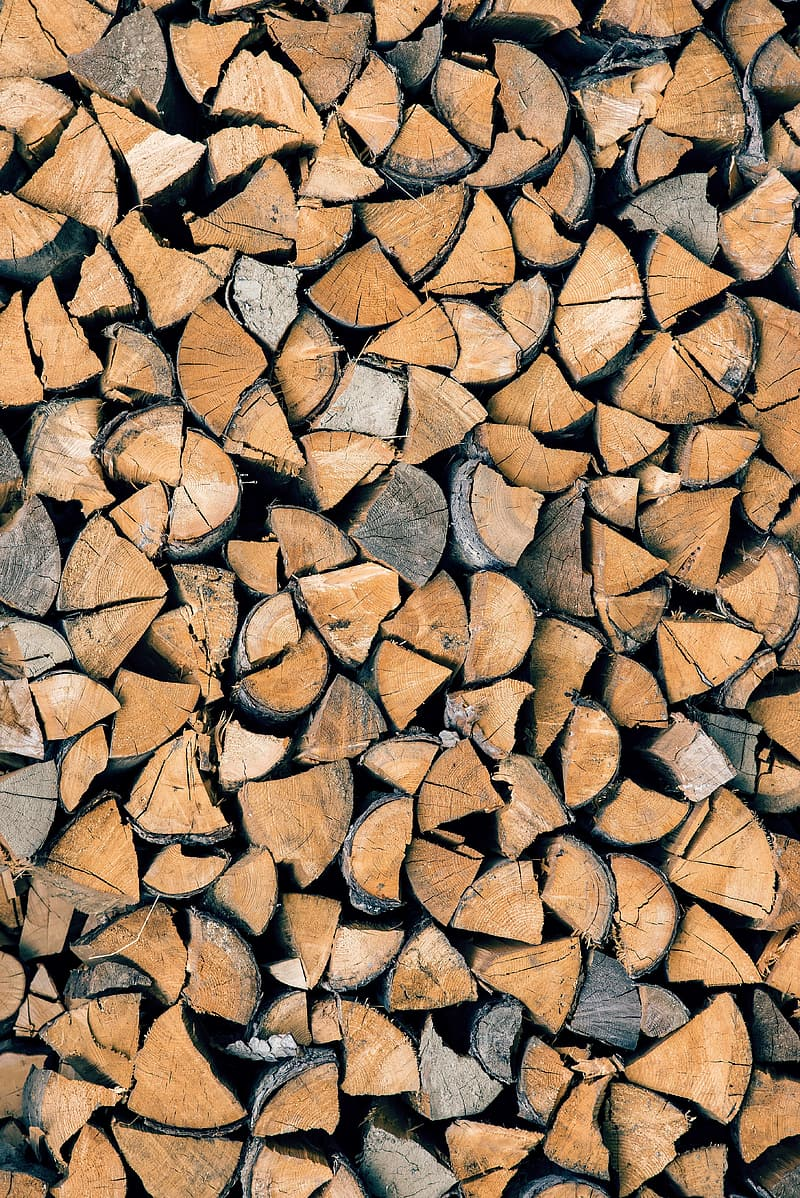 Brown and black wooden logs