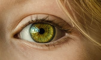 Human yellow eye