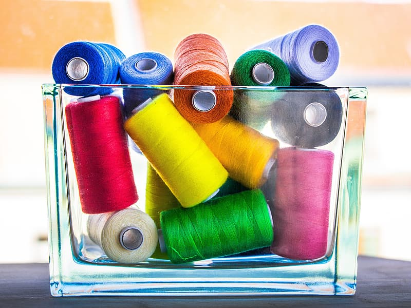 Assorted-color thread roll lot