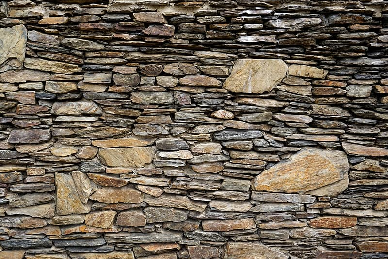 Brown and gray rock wall