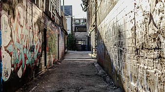 Street with walls